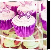 Cake-stand Canvas Prints - Cup cakes Canvas Print by Tom Gowanlock