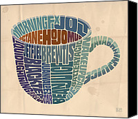 Viennese Canvas Prints - Cup o Joe Canvas Print by Mitch Frey