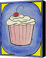 Cupcake Canvas Canvas Prints - Cupcake Canvas Print by Daniel MacGregor