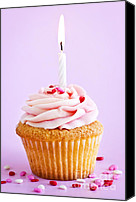 Decorated Canvas Prints - Cupcake Canvas Print by Elena Elisseeva
