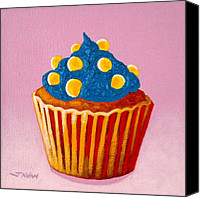 Cupcake Canvas Canvas Prints - Cupcake  Canvas Print by John  Nolan