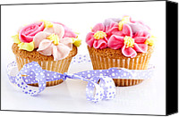 Paper Photo Canvas Prints - Cupcakes Canvas Print by Elena Elisseeva