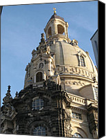 Frauenkirche Canvas Prints - Cupola Church of our Lady - Dresden - Germany Canvas Print by Christiane Schulze