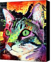 Feline  Canvas Prints - Curiosity Cat Canvas Print by Dean Russo