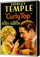 1935 Movies Canvas Prints - Curly Top, Shirley Temple, John Boles Canvas Print by Everett