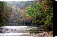 Lanscape Canvas Prints - Current river Fall Canvas Print by Marty Koch