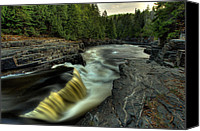 Cedar Canvas Prints - Current River Falls Canvas Print by Jakub Sisak