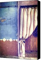 Door Canvas Prints - Curtain Canvas Print by Joana Kruse