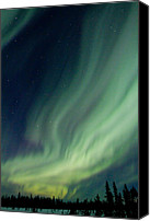 Northern Photo Canvas Prints - Curtain Whispers Canvas Print by Ed Boudreau