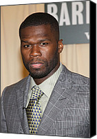 Cent Canvas Prints - Curtis 50 Cent Jackson At In-store Canvas Print by Everett