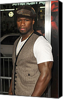 Cent Canvas Prints - Curtis Jackson 50 Cent At Arrivals Canvas Print by Everett