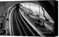 Subway Station Photo Canvas Prints - Curve Canvas Print by Sebastian Musial