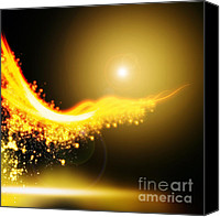 Infinity Canvas Prints - Curved  Lighting  Canvas Print by Setsiri Silapasuwanchai