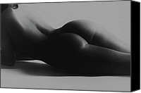 Art Nude Canvas Prints - Curves Canvas Print by David  Naman