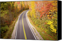 Parkway Canvas Prints - Curvy Road Blue Ridge Parkway, North Carolina Canvas Print by Lightvision, LLC