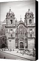 35mm Canvas Prints - Cusco Cathedral Canvas Print by Darcy Michaelchuk