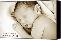 Jonah Canvas Prints - Custom Art Portraits Canvas Print by Carolyn Toshach