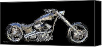 Artists Canvas Prints - Custom Chopper II Canvas Print by Wayne Bonney