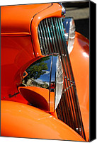 Custom Ford Digital Art Canvas Prints - Custom Ford motor car abstract in bright orange Canvas Print by John Kelly