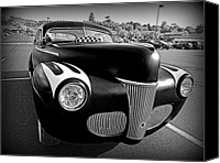 Monochrome Hot Rod Canvas Prints - Custom Ford Canvas Print by Richard Reeve