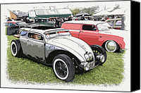 Ford Sedan Canvas Prints - Custom VW Bug Canvas Print by Steve McKinzie