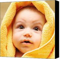 Bathe Canvas Prints - Cute baby face Canvas Print by Anna Omelchenko