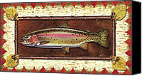 Flyfishing Canvas Prints - Cutthroat Trout Lodge Canvas Print by JQ Licensing