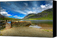Rusty Digital Art Canvas Prints - Cwm Idwal Canvas Print by Adrian Evans