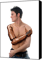 Future Tech Canvas Prints - Cybernetic Arm, Composite Image Canvas Print by Victor Habbick Visions