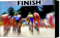 Eye Ball Canvas Prints - Cyclists Crossing the Finish Line Canvas Print by Steve Ohlsen
