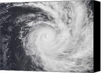 Natural Disasters Canvas Prints - Cyclone Zoe In The South Pacific Ocean Canvas Print by Stocktrek Images