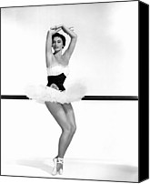Ballet Slippers Canvas Prints - Cyd Charisse, 1955 Canvas Print by Everett