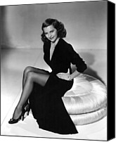Charisse Canvas Prints - Cyd Charisse, Mgm Publicity Shot, 1949 Canvas Print by Everett
