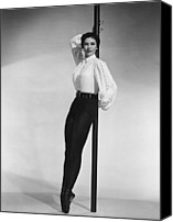 Charisse Canvas Prints - Cyd Charisse, Portrait Canvas Print by Everett