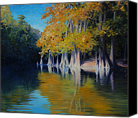 Calcasieu River Canvas Prints - Cypress Bank Canvas Print by Kevin Lawrence Leveque