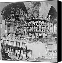 Dining Hall Canvas Prints - Czars Dining Hall In The Kremlin, 1919 Canvas Print by Photo Researchers