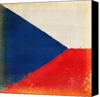 Abstract Map Photo Canvas Prints - Czech Republic flag Canvas Print by Setsiri Silapasuwanchai