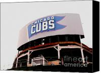 Wrigley Field Canvas Prints - Da Cubs Canvas Print by David Bearden