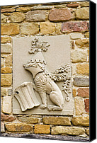 Coat Of Arms Canvas Prints - Da Vinci Coat-of-arms, Leonardo Museum Canvas Print by Sheila Terry