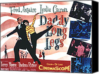 1955 Movies Canvas Prints - Daddy Long Legs, Fred Astaire, Leslie Canvas Print by Everett