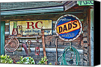 Old Cabins Canvas Prints - Dads Canvas Print by Kenny Francis