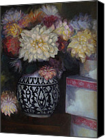Susan Hanlon Canvas Prints - Dahlias Canvas Print by Susan Hanlon