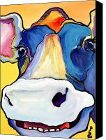 Animal Greeting Card Canvas Prints - Dairy Queen I   Canvas Print by Pat Saunders-White