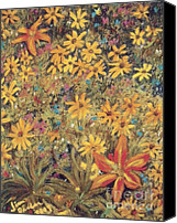 Flora Pastels Canvas Prints - Daiseys Canvas Print by Jim Barber Hove