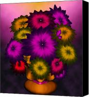 Airbrush Art Digital Art Canvas Prints - Daisies Again Canvas Print by Karla White