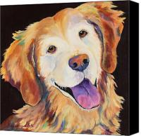Retrievers Canvas Prints - Daisy Canvas Print by Pat Saunders-White