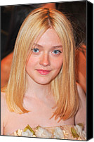 Metropolitan Museum Of Art Costume Institute Canvas Prints - Dakota Fanning At Arrivals Canvas Print by Everett