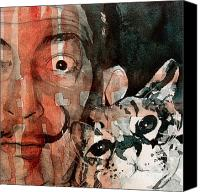 Dali Canvas Prints - Dali and his cat Canvas Print by Paul Lovering