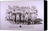 Dallas Cowboys Canvas Prints - Dallas Cowboys Canvas Print by Shawn Stallings
