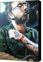 Rock Music Canvas Prints - Dallas Green Canvas Print by Aaron Joseph Gutierrez
